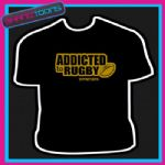 RUGBY FAN PLAYER ADDICTED 6 NATIONS UNION TSHIRT - 160536119518